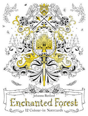 Enchanted Forest: 12 Colour-in Notecards by Johanna Basford