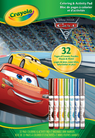 Crayola Colour & Activity Pad - Cars 3