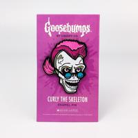 Goosebumps Curly the Skeleton Pin