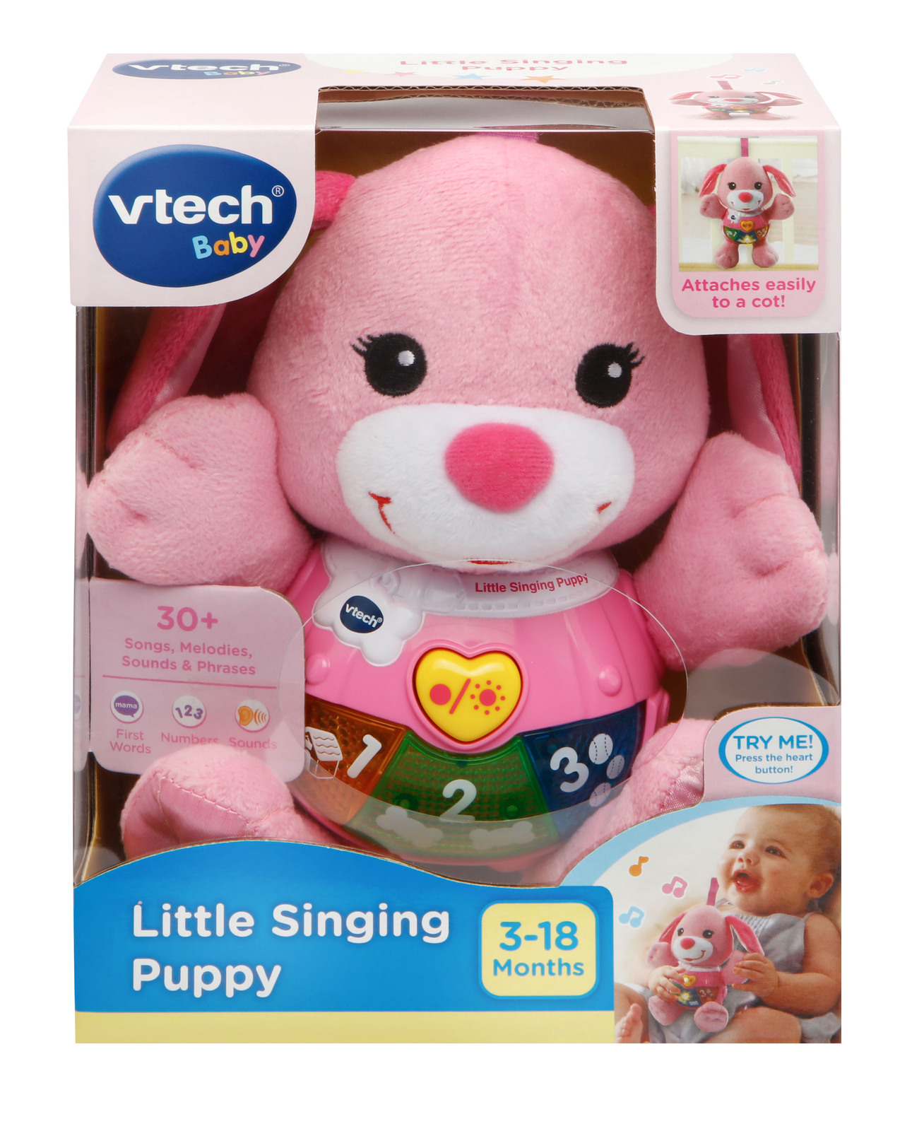 Vtech: Little Singing Puppy (Pink) - Lovable Learning Plush image