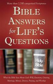 Bible Answers for Life's Questions by Compiled by Barbour Staff image