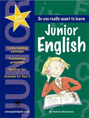 Junior English: Book 3 by Andrew Hammond image