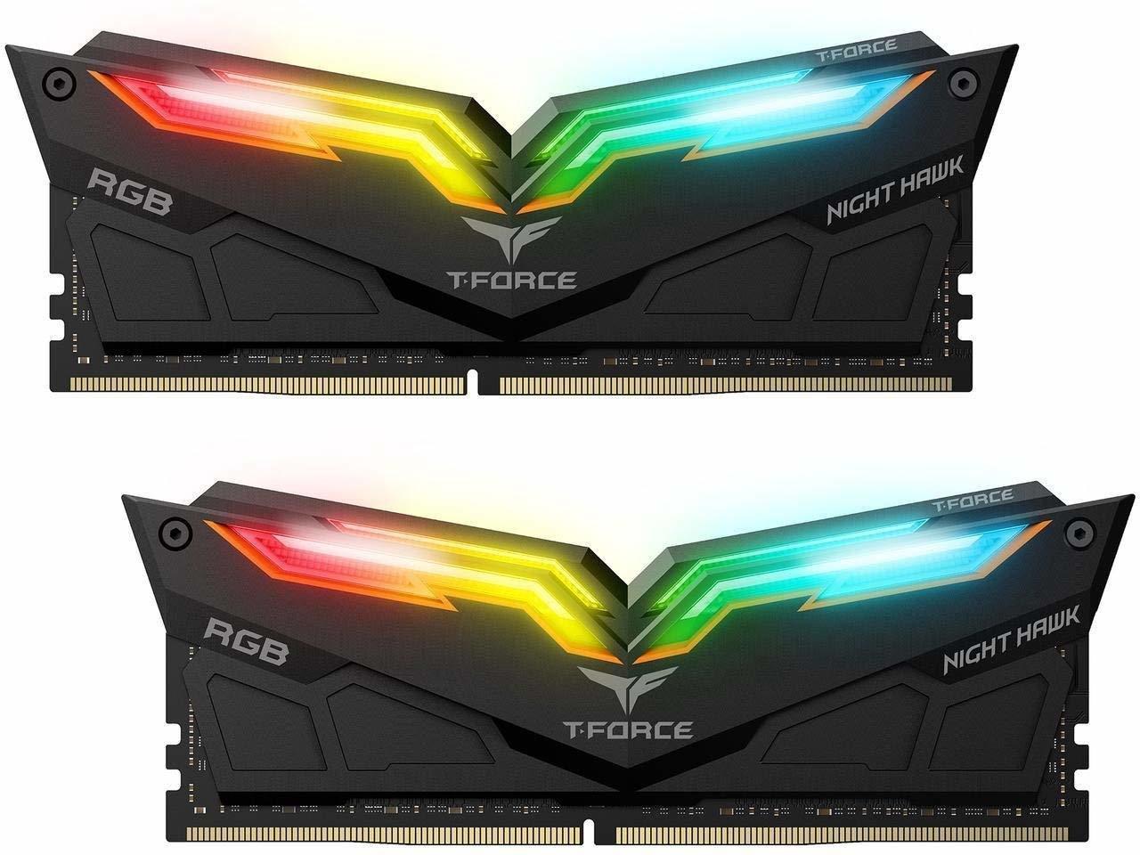 2x8GB Team T-Force Night Hawk RGB 3000MHz DDR4 Gaming RAM image