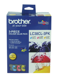 Brother Ink Cartridge LC38CL3PK (Multi-Colour)(3 Pack)
