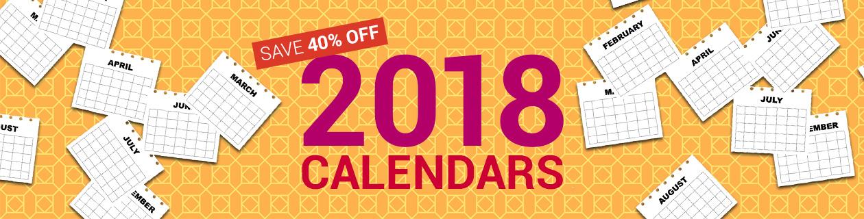 40% Off Calendars