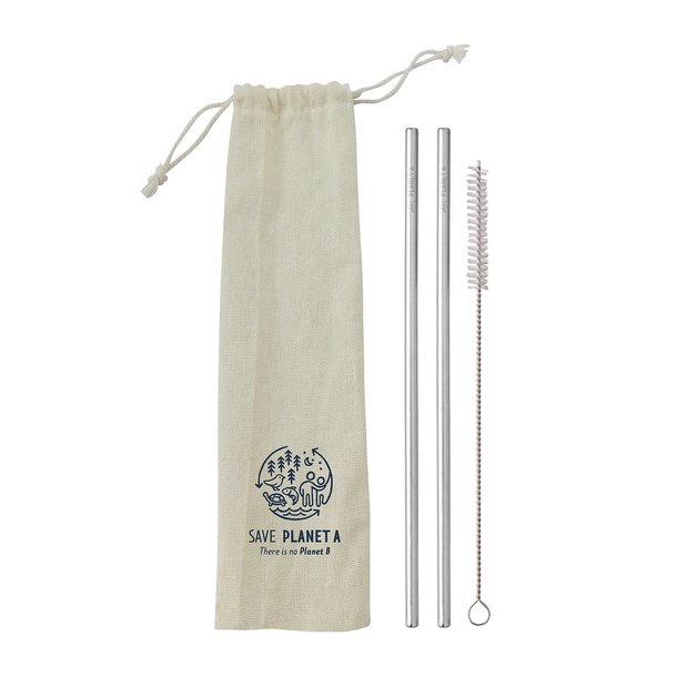 Stainless Steel Straws Travel Pack