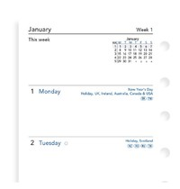 Filofax: Pocket 2020 Refill - Week on Two Pages (Unlined) image