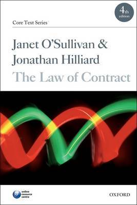 The Law of Contract by Janet O'Sullivan image