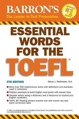 Essential Words for the TOEFL: (Test of English as Foreign Language) by Steven Matthiesen image