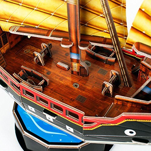 Cubic Fun: Chinese Sailboat - 62 Piece 3D Puzzle image