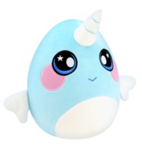 Squeezamals: S2 Deluxe Plush - Narwhal