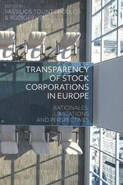 Transparency of Stock Corporations in Europe