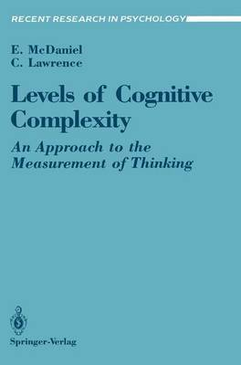 Levels of Cognitive Complexity by Ernest McDaniel image