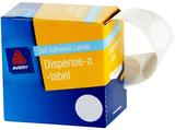 Avery White 24mm Diameter Circle Dispenser Labels Pkt550