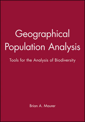 Geographical Population Analysis by Brian A. Maurer image