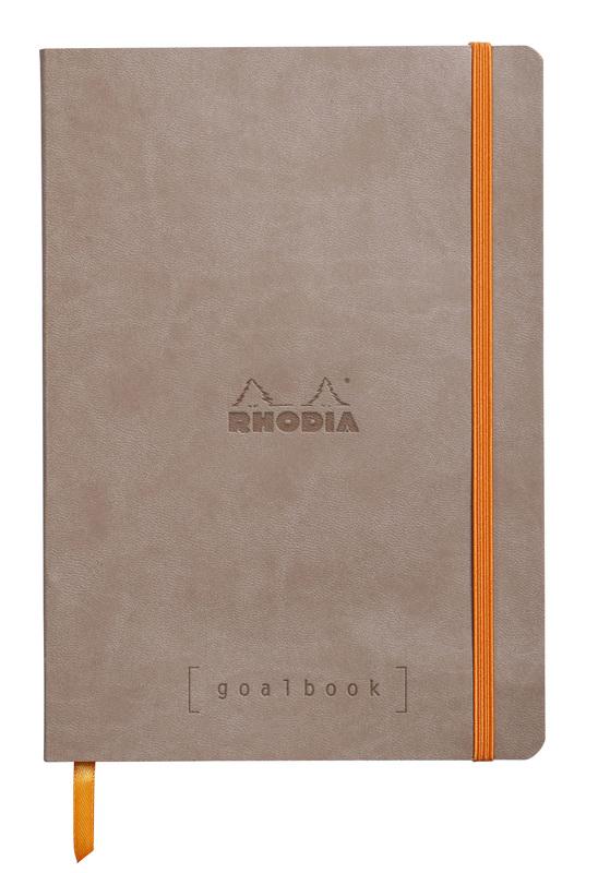 Rhodiarama A5 Goalbook Dot Grid - Taupe