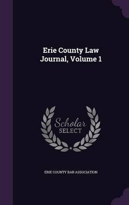 Erie County Law Journal, Volume 1 image