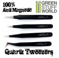 Green Stuff World -100% Anti-magnetic Quartz Tweezer Set
