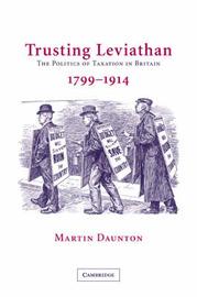Trusting Leviathan by Martin Daunton