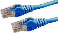 DYNAMIX Cat6 UTP Patch Lead (T568A Specification) 250MHz Slimline Snaggles Moulding - Blue (0.5m)