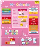 Magnetic My Calendar (Pink)