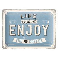 Nostalgic Art: Tin Sign - Enjoy the Coffee