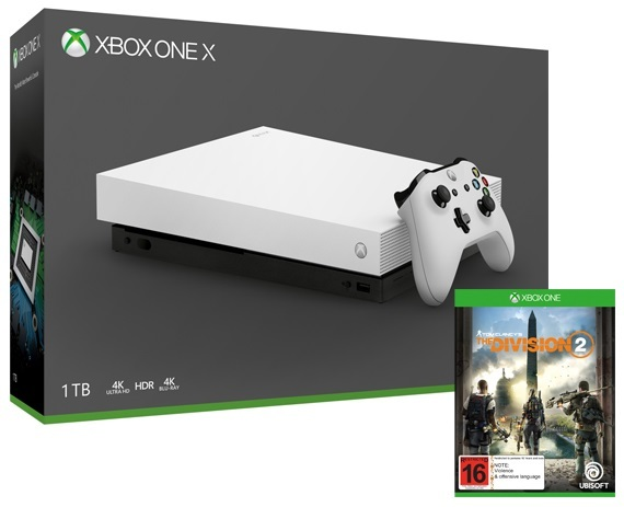 Xbox One X 1TB Tom Clancy's The Division 2 Console Bundle - White for Xbox One image