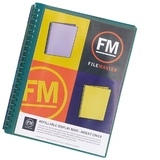 FM A4 Insert Cover Refillable Display Book - Green