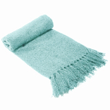 Bambury Boucle Throw Rug (Sky)