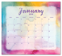 Aquarelle Magnetic Monthly Planner