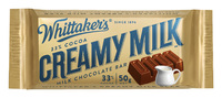 Whittakers Creamy Milk Slab (50g, 50pk)