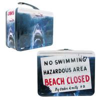 "Jaws ""No Swimming"" - Retro Style Tin Tote Lunch Box"