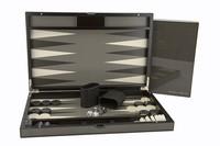 """Dal Rossi: Backgammon - 15"""" Game Board (Carbon Fibre)"""