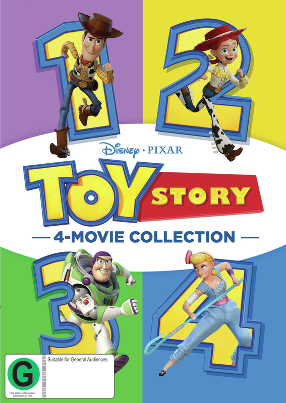 Toy Story 4-Movie Collection on DVD