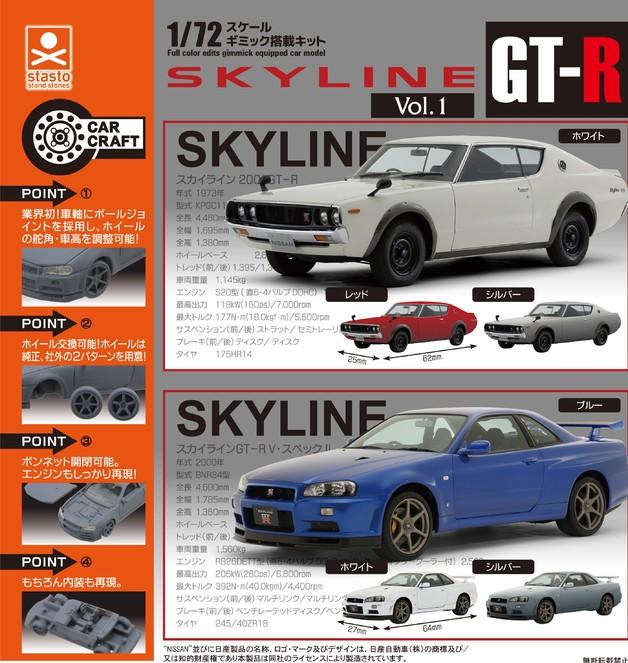 1/72 Skyline GT-R Vol.1 - Blind Box