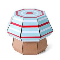 Funny Paper - Mushroom Stool (Mint Stripe)