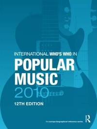 The International Who's Who in Popular Music 2010 image