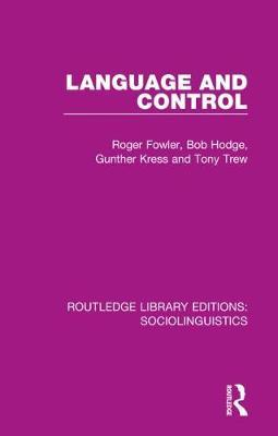 Language and Control by Roger Fowler