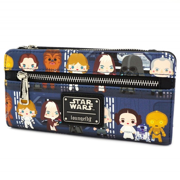 Loungefly: Star Wars - Death Star Chibi Print Flap Wallet