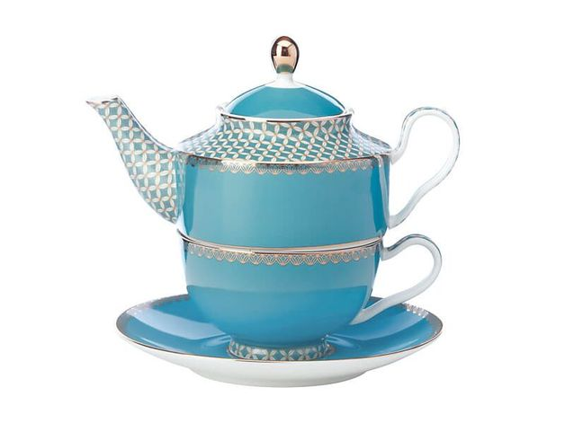 Maxwell & Williams Teas & C's: Classic Tea For One with Infuser - Aqua