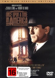 Once Upon a Time in America on DVD image
