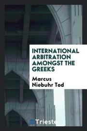 International Arbitration Amongst the Greeks by Marcus Niebuhr Tod image