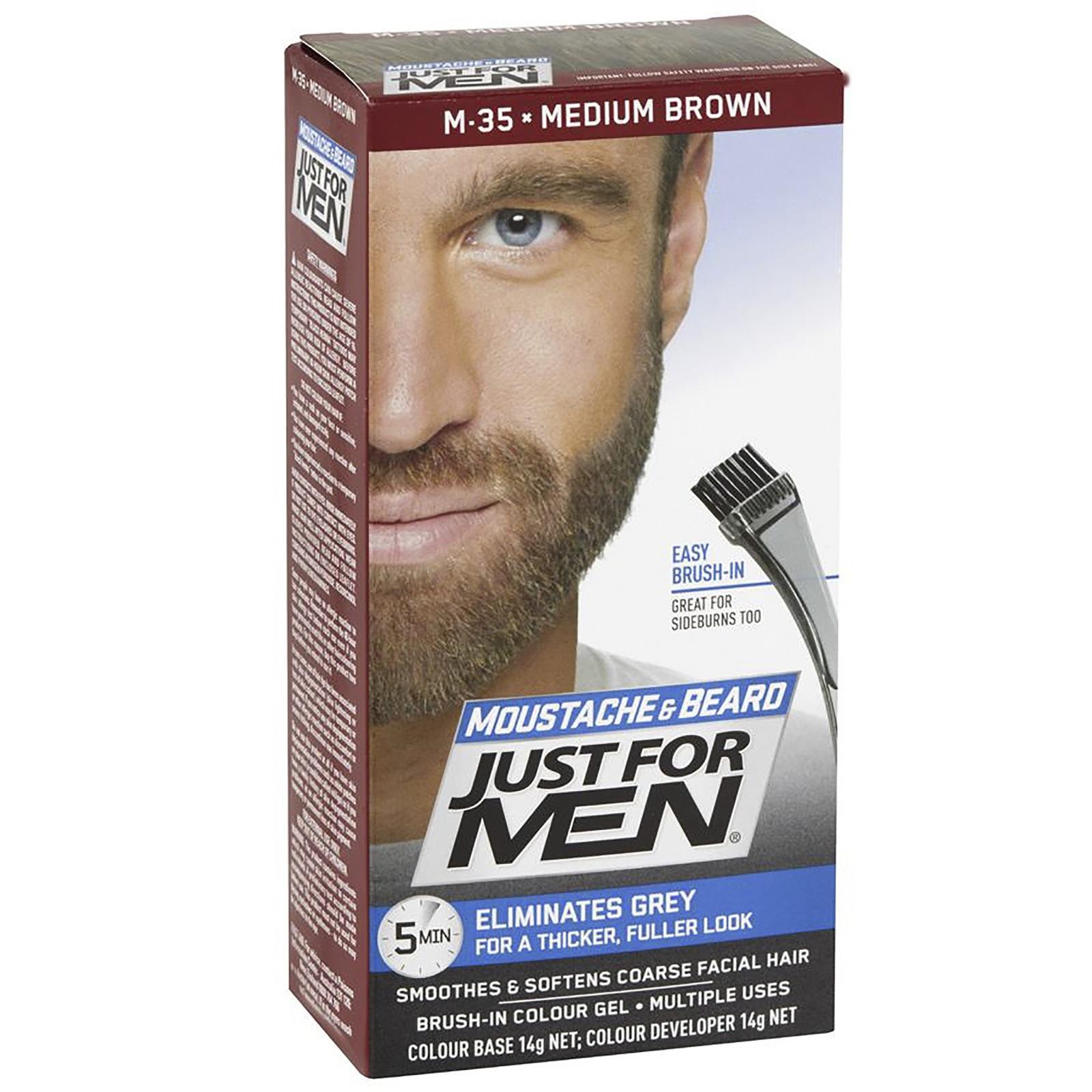 Just For Men Moustache & Beard Colour - Medium Brown image