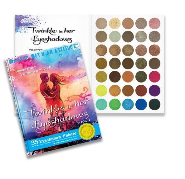 Rude Cosmetics: Twinkle In Her Eyeshadows Eyeshadow Palette - Book 1 (52.5g)