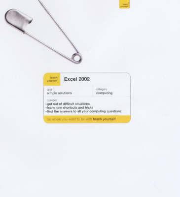 Excel 2002 by Stephen Morris