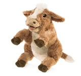 Folkmanis Hand Puppet - Brown Cow