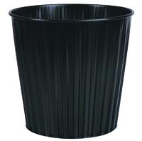 Fluteline 15L Metal Waste Bin - Black