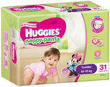 Huggies Nappy Pants Bulk - Toddler Girl 10-15kgs (31)