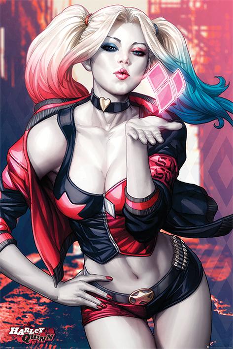 Harley Quinn Maxi Poster - Blowing Kiss (825)