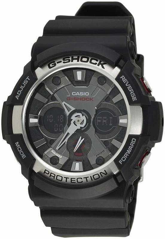 Casio G-Shock Analogue/Digital Mens Black Watch GA200-1A GA-200-1ADR
